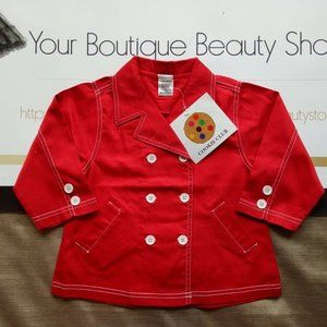 COOKIE CLUB RED JACKET BABY COTTON NEW